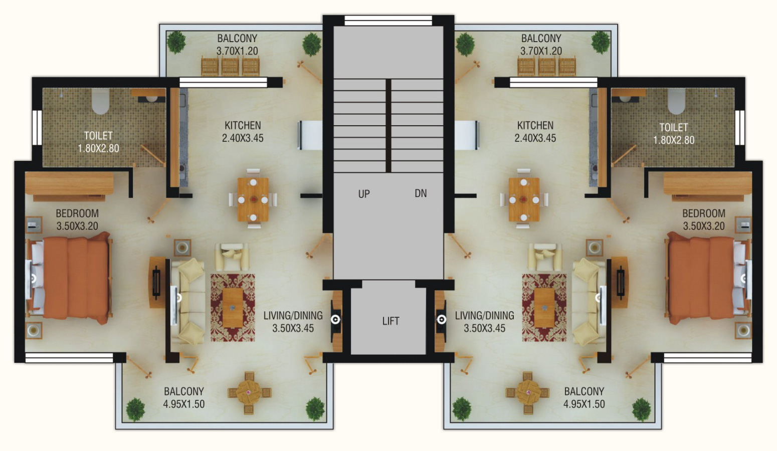 Beach apartments goa floorplans world class apartments for Residence design plan